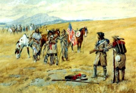 shoshone-meeting-captain-lewis-aa