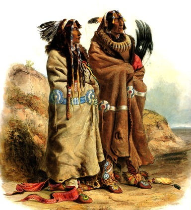 sih-chida-and-mahchsi-karehde-mandan-indians-plate-20-from-volume-2-of-travels-in-the-interior-1844